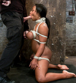This big titted ebony in bondage must..
